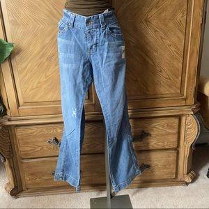 Calvin Klein light wash straight leg jeans